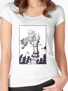 From Above® comic Women's Fitted Scoop T-Shirt