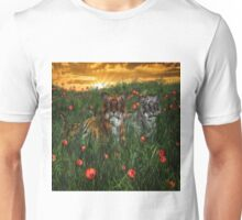 Tiger's In The Poppies  Unisex T-Shirt
