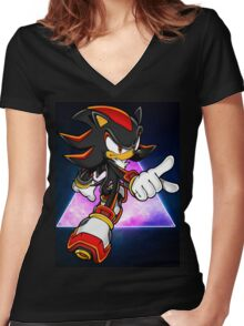 Shadow Unleashed Women's Fitted V-Neck T-Shirt