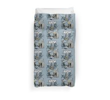 From Above Comic Duvet Cover