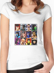 Mortal Kombat 2 Character Select Women's Fitted Scoop T-Shirt