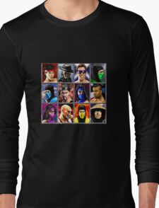 Mortal Kombat 2 Character Select Long Sleeve T-Shirt
