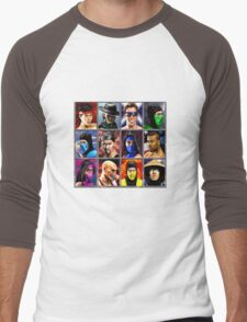 Mortal Kombat 2 Character Select Men's Baseball ¾ T-Shirt