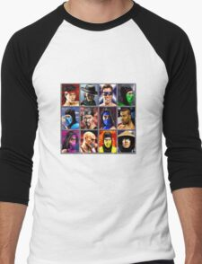 Mortal Kombat 2 Character Select Men's Baseball ¾ T-Shirt