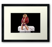 Leather and Spikes with Glamour Girl Framed Print