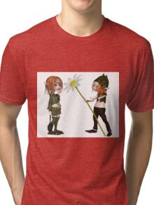 Goblin Valentine's Day Flower Tri-blend T-Shirt