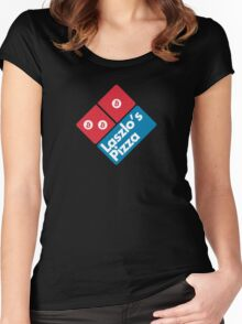 Laszlo's Pizza Women's Fitted Scoop T-Shirt