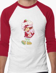 Strawberry Shortcake & Custard Men's Baseball ¾ T-Shirt
