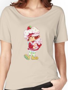 Strawberry Shortcake & Custard Women's Relaxed Fit T-Shirt