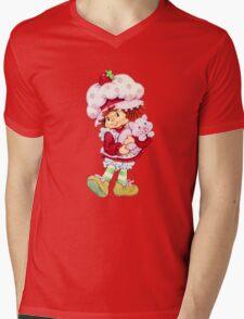 Strawberry Shortcake & Custard Mens V-Neck T-Shirt