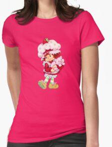 Strawberry Shortcake & Custard Womens Fitted T-Shirt