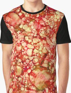 Orange Abstract  Graphic T-Shirt