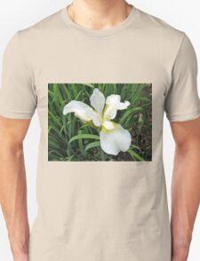 Beautiful White Iris Unisex T-Shirt