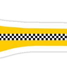 Dachshund Dog Yellow Cab Sticker