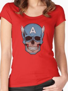 Captain Amerikilled Women's Fitted Scoop T-Shirt