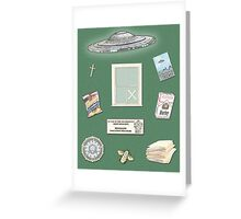 X-Files inspired poster (etc) Greeting Card