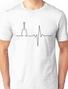 Guitar heart Unisex T-Shirt