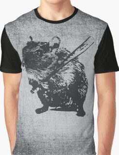 Angry street art mouse / hamster (baseball edit) Graphic T-Shirt