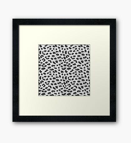Cheap Grey Cheetah Designs!   Framed Print