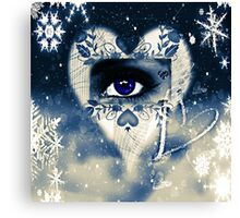 Ice Queen Blue Canvas Print