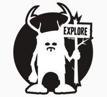 Explore Emblem Logo Baby Tee