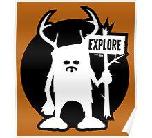 Explore Emblem Logo Poster
