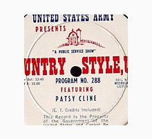 Patsy Cline, Country Style USA, US Army LP close up Unisex T-Shirt