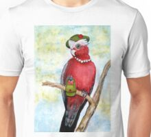 Rosie the Galah is Dressed for the Races Unisex T-Shirt