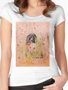 Wildflower Springer Women's Fitted Scoop T-Shirt