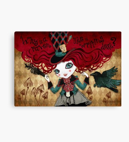 Mad Riddle Canvas Print