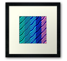 Wavy Stripes Framed Print