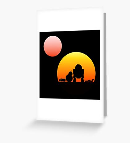 When Two Worlds Collide Greeting Card