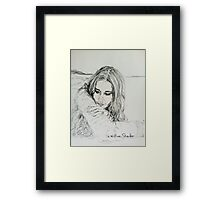 Ali Fan Framed Print