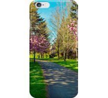 The Prunus Path, Vancouver, BC iPhone Case/Skin