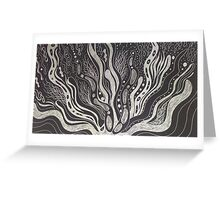 Black and White Coral inspiration Greeting Card