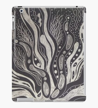 Black and White Coral inspiration iPad Case/Skin