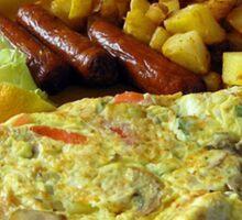 (✿◠‿◠) (◡‿◡✿My Breakfast @ Jiffy's Grill mm Good! (✿◠‿◠) (◡‿◡✿ Sticker