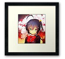 Rikka No Eye Patch Framed Print