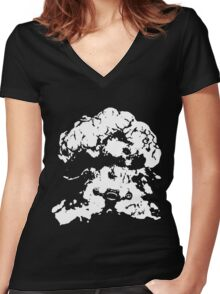 Ziggs Explosion Black&White Women's Fitted V-Neck T-Shirt