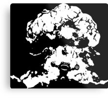 Ziggs Explosion Black&White Metal Print