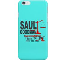 saul goodman law funny nerd geek geeky iPhone Case/Skin