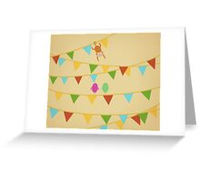 Birds and Monkey Greeting Card