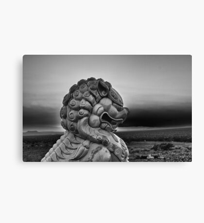 Foo Dog on Route 66-Moody Canvas Print
