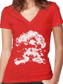Ziggs Explosion Color Women's Fitted V-Neck T-Shirt