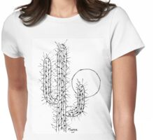 Cactus love (sunset) Womens Fitted T-Shirt