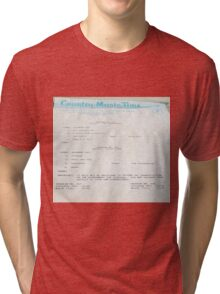 Patsy Cline, The Jordanaires, Country Music Time, USAF info  Tri-blend T-Shirt