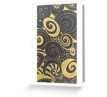 Black and Gold drawing Greeting Card