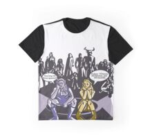 2 Elves At Camp Waiting For Boss Funny Everquest MMORPG Comic-Style Hand-Drawn Illustration  Graphic T-Shirt