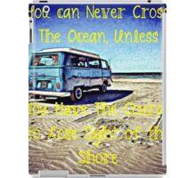 Cross the Ocean iPad Case/Skin