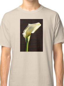 lovely sunlit calla lily before brick Classic T-Shirt